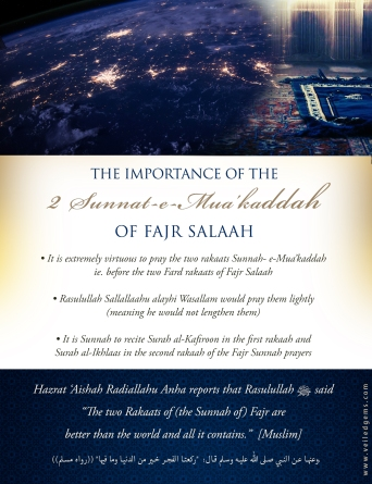 The Importance of the Two Rakaats Sunnah of Fajr Salaah